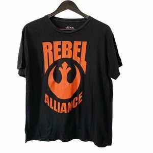 Star Wars Rebel Alliance Black Cotton T-shirt